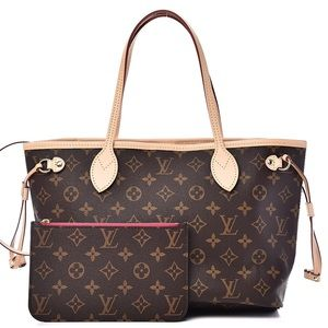 NEVERFULL W/ POUCH Auth PM Louis Vuitton Bag!